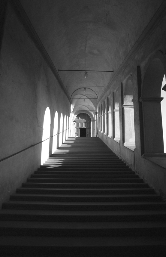 By Cyberuly (My Nikon D60) [GFDL or CC-BY-SA-3.0-2.5-2.0-1.0], via Wikimedia Commons Altered: Gray Scale, saved as PNG and renamed to galluzzo-staircase-bw.png