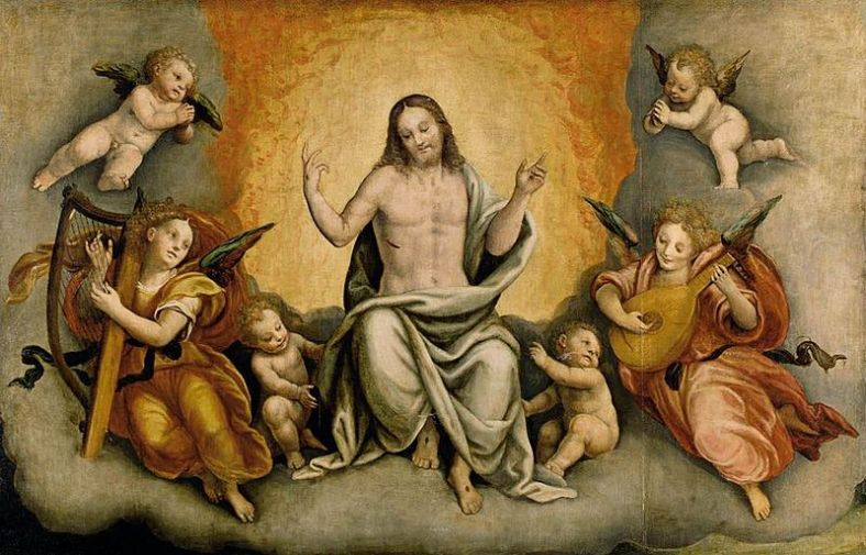 Bernardino_Lanino_-_Triumph_of_Christ_with_Angels_and_Cherubs_-_WGA12464